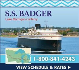 SS Badger Lake Michigan Carferry Manitowoc
